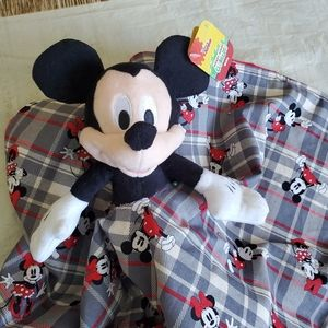 Lovey Mickey mouse Plush Security Blanket